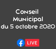 RÉUNION DU CONSEIL MUNICIPAL DU 5 OCTOBRE 2020