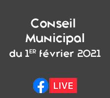 REUNION DU CONSEIL MUNICIPAL DU 1ER FEVRIER 2021