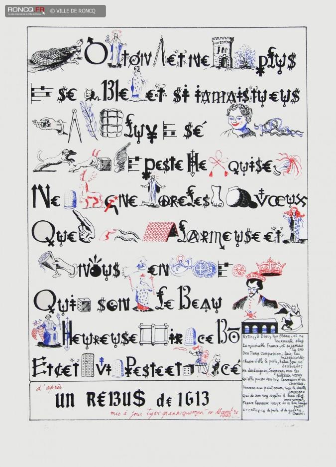 Rébus par Jacques Villeglé